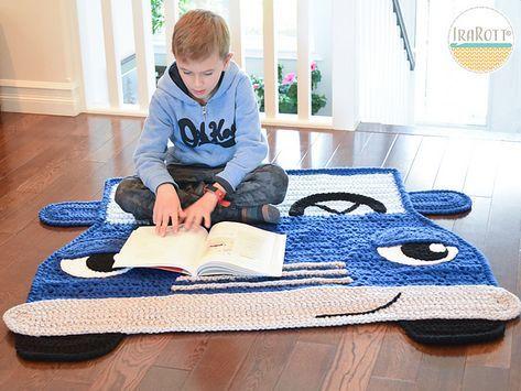 Jimmy The Hybrid Car Rug Pattern By Ira Rott Hybrid Car Rug Pattern Crochet Car