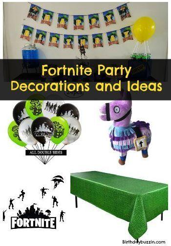 Fortnite Birthday Party Dekorationen Geburtstag Dekoration Ideen
