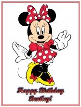 Minnie Mouse Edible Icing Image