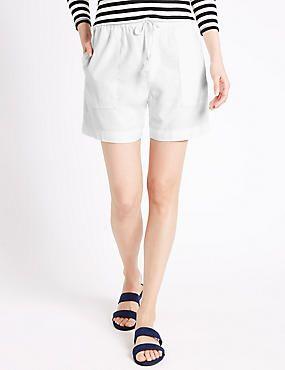 Linen Rich Drawstring Shorts