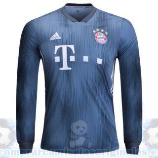 Tercera Camiseta Manga Larga Bayern Múnich 2018 2019 Gris Azul ...