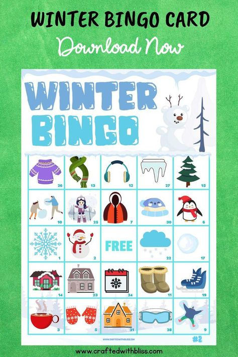 winter bingo winter bingo printable