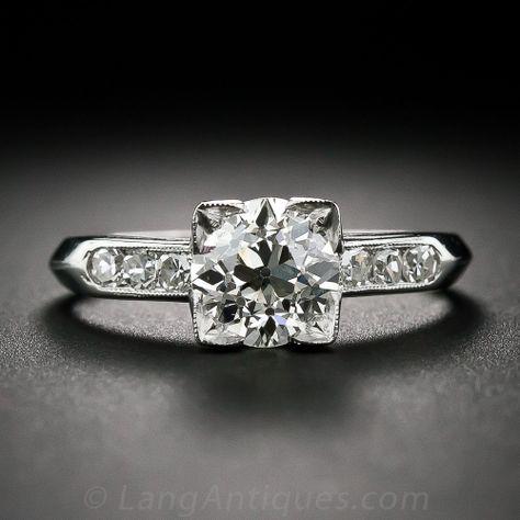 e8ccc1fd9bc6 1.33 ct. Diamond and Platinum Art Deco Engagement Ring