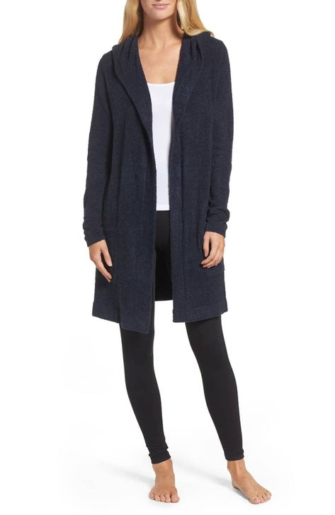 Cozychic Lite® Coastal Hooded Cardigan,                         Main,                         color, INDIGO