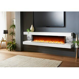 Orren Ellis Quesinberry Wall Mounted Electric Fireplace Wayfair