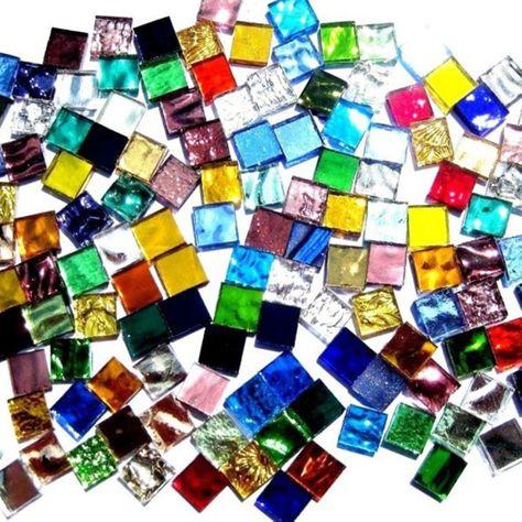 Assorted Colour Different Shape Mosaics Craft Accessories Decoration 8mm 20mm