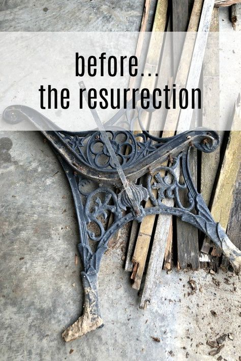 How To Resurrect A Park Bench From The Dead Wood Bench Outdoor