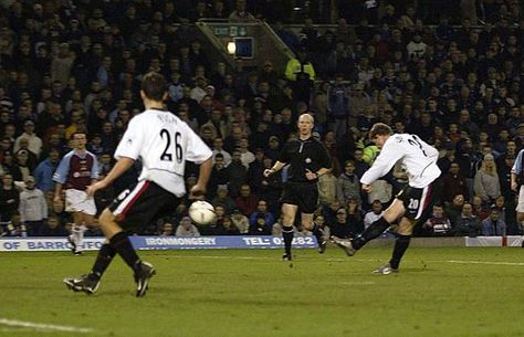 Burnley 0 Man Utd 2 in Dec 2002 at Turf Moor. Ole Gunnar Solskjaer made it 0-2 with a goal in the League Cup 4th Round.