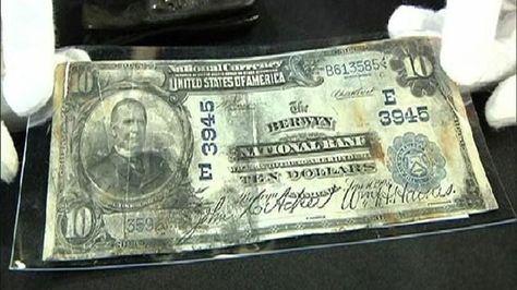 Money found on titanic