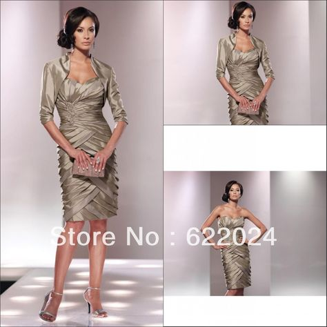 a6f32206f4d Two-piece iridescent taffeta suit tea length layer cocktail dresses US   145.00