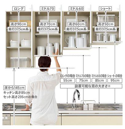 本当に使いやすいキッチンのサイズ 寸法は システムキッチンの規格サイズって リフォーム費用の一括見積り リショップナビ キッチン 吊り戸棚 収納 システムキッチン キッチンのレイアウト