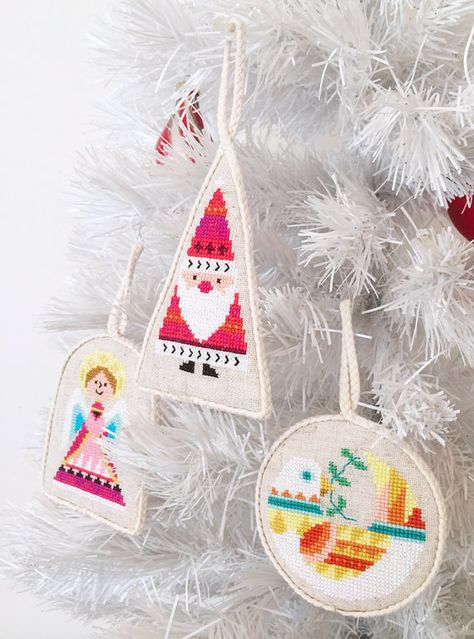 Christmas Ornaments set of six modern counted by SatsumaStreet