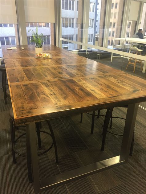 Recycled Timber Beach House Range Dining Table With Stainless Steel Legs Available Now At Our Stanmore