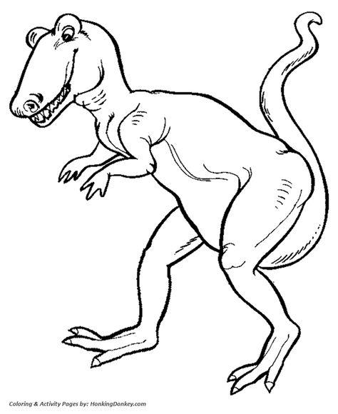 Tyrannosaurus T Rex Dinosaur Coloring Page Dinossauros E