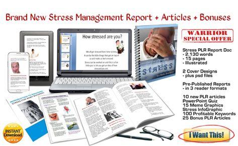 STRESS MANAGEMENT PLR Report + Articles + Graphics +Marketing Megapack