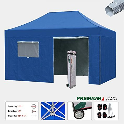 New Eurmax 10x15 Ft Premium Ez Pop up Instant Canopy Commerical Outdoor canopy Package deal Party Tent Wedding Gazebo 4 Removable Zippered End Sideu2026  sc 1 st  Pinterest & New Eurmax 10x15 Ft Premium Ez Pop up Instant Canopy Commerical ...