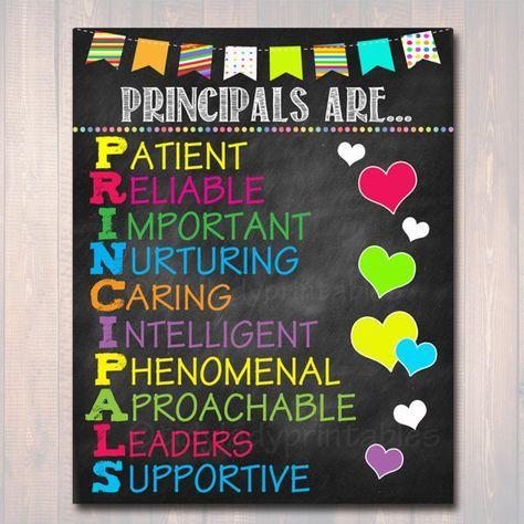 School Principal Poster Principals Are Acronym Art School Office