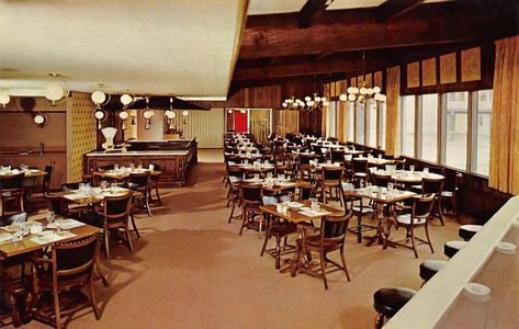 Minnesota Postcard Dining Room At The Golden Steer Motel In South St Paul Back Of Card Reads Motor Hotel