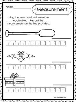 10 Printable Measuring With A Ruler Worksheets Kindergarten 1st Grade Math 1st Grade Math 1st Grade Worksheets Measurement Preschool