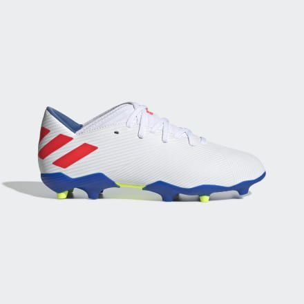 adidas Nemeziz Messi 18.1 Firm Ground Football Boots Trainers Shoes Blue Kids