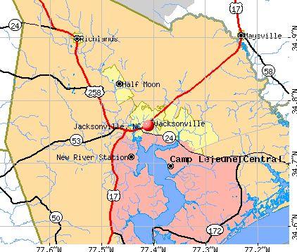 Jacksonville NC Map Jacksonville North Carolina Pinterest - Ncmap