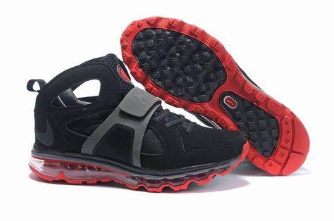 size 40 95b35 ab875 Danmark Billige Nike Air Max Huarache TR Mid Trainers Mænd - BlackRed