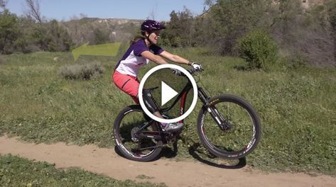 Video Mountain Bike Skills 101 Manual Front Wheel Lift Biking Workout Mountain Bike Girls