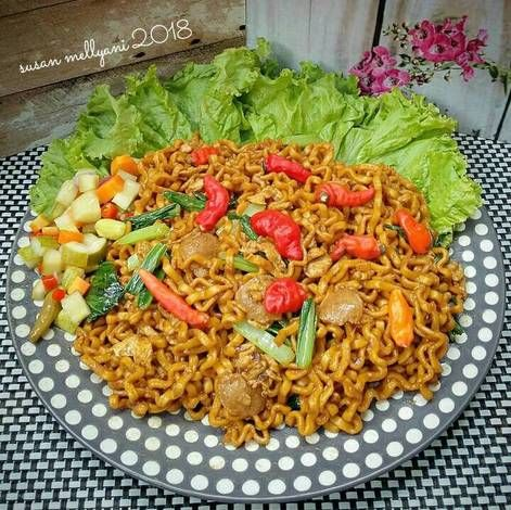 Resep Mie Tek Tek Goreng Pr Homadestreetfood Oleh Susan Mellyani Resep Resep Tumis Sawi Hijau