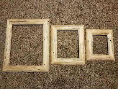 Picture Frame Set Rustic Reclaimed Log 16x20 11x14 8x10 Buckrail Pine Fashion Home Garden In 2020 Picture Frame Sets Barn Wood Picture Frames Rustic Picture