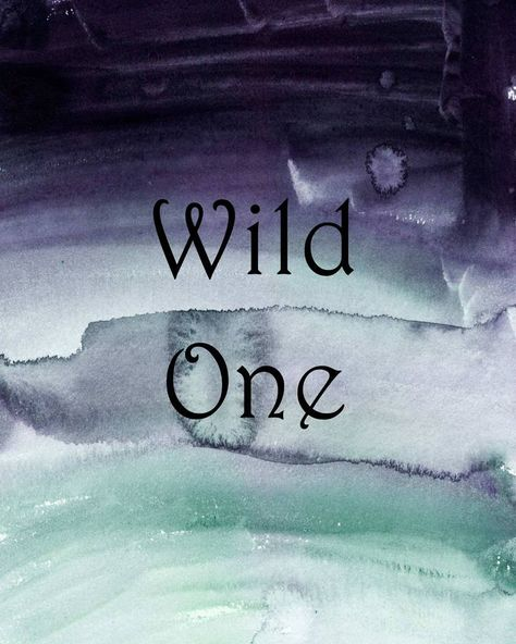 Wild One quote, boy's nursery decor ideas, watercolor wash, husband gift - Wisdom Wit Quotes
