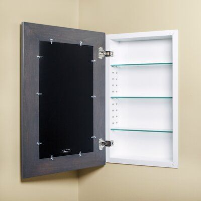 Fox Hollow Furnishings Recessed Framed 1 Door Medicine Cabinet With 2 Adjustable Shelves In 2020 Adjustable Shelving Recessed Medicine Cabinet Hidden Medicine Cabinet