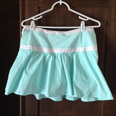 1bba1b2558 Lululemon Hot Hitter Skirt Size 8 EUC Hot Hitter Skirt. Beautiful  aquamarine color. Size 8 (dot confirmed). Shorts underneath have grippers.