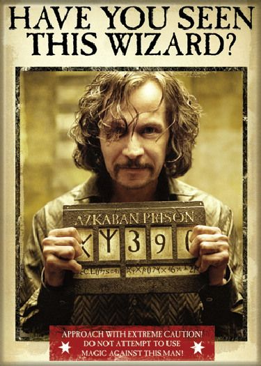 Harry Potter Sirius Black Have You Seen This Wizard? Refrigerator ...