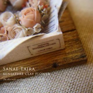 虫喰いの穴とか Miniature Mini Flower Art Rose Handmade