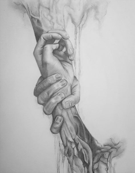 Holding hands - pencil drawing #beinspired