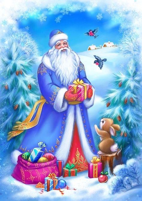 Картинка дед мороз для дошкольников
