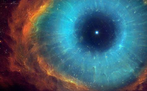 """The Helix nebula dubbed """"The Eye of God"""""""