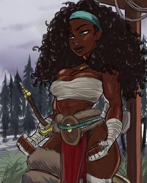 🎨 and repost from - . ( is a platform dedicated to celebrating anime / manga media that… Black Love Art, Black Girl Art, Black Is Beautiful, Black Girls, Black Women, Warrior Princess, Black Girl Cartoon, Black Anime Characters, Black Artwork