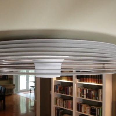 Bladeless Ceiling Fan Uses Vortex Airflow To Regulate Room