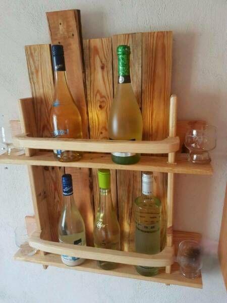 Selbsgebautes Regal Aus 100 Gebrauchtem Holz Palette Weinregal Whiskyregal Aus Palettenholz In Russelsheim Russelsheim Whisky Regal
