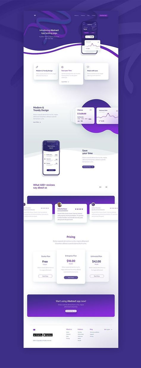 Creative App Landing Page Template Free Download | Design