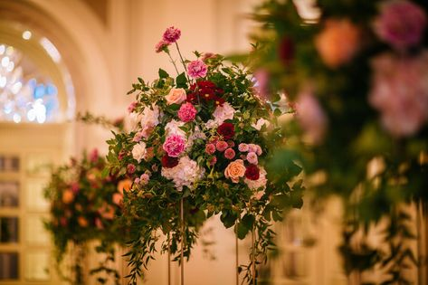 F + G  wedding | Ireland Adare Manor wedding photography | Wedding aisle filled with lovely scent of flowers | Romantic wedding aisle decoration with roses, carnations and hydrangea | London wedding photographer