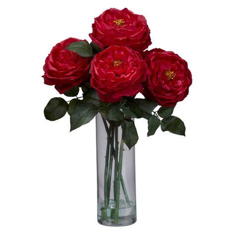 Fancy rose silk flower arrangement with cylinder vase red walmart fancy rose silk flower arrangement with cylinder vase red walmart mightylinksfo