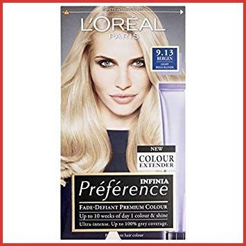 Loreal Preference Hair Color Instructions 154636 Preference Infinia 9 13 Bergen Light Be Loreal Preference Hair Color Beige Blonde Hair Light Beige Blonde Hair