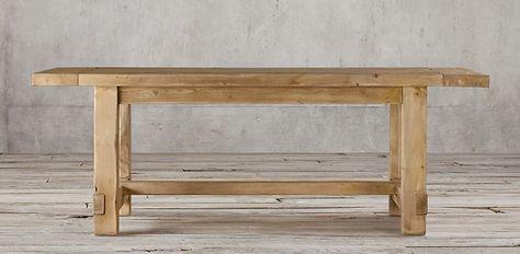 Exceptional Railroad Tie Parsons Rectangular Table | Restoration Hardware | Cafe Plans  | Pinterest | Railroad Ties, Hardware And Tables