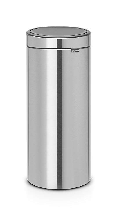 Brabantia 115462 Touch Trash Can New 30l 8 Gal Soft 8 Gallon Matt Steel Ffp Review Trash Can Trash Brabantia