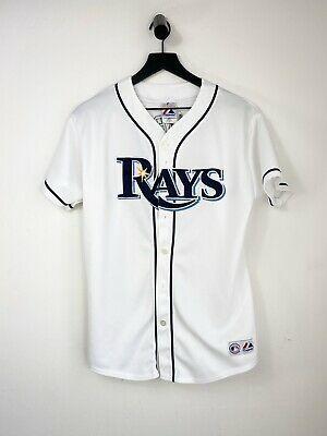 Sponsored Majestic Dioner Navarro 30 Tampa Bay Rays Kids Size Xl Baseball Jersey In 2020 Tampa Bay Rays Tampa Bay Tampa