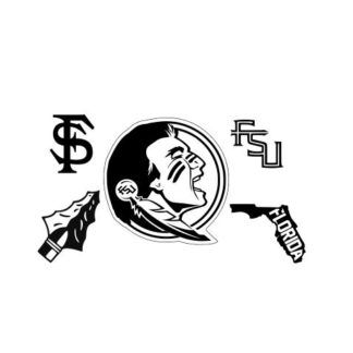 Florida State Seminoles Svg Files Include One 1 Zip File With Svg Dxf And Eps Files Fsu Logo Florida State Logo Cricut