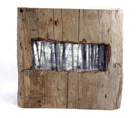 Hiding places  The Forest   original encaustic by ingridArtStudio, $83.00