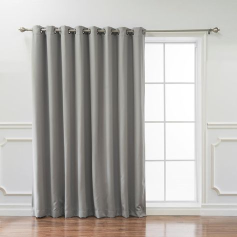Best Home Fashion Wide Basic 100 In W X 96 In L Blackout Curtain